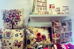 Panoramica di cuscini