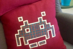 Cuscino Space Invaders